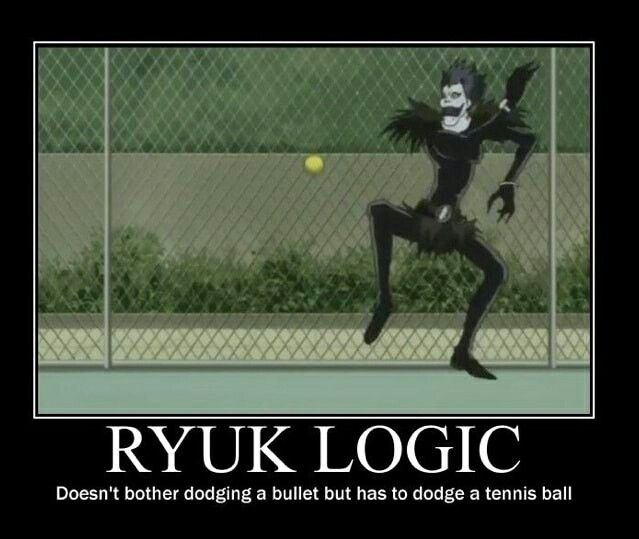 L Do You Know God Of Deaths Hates Tennis Balls Death Note Funny Death Note Anime Funny