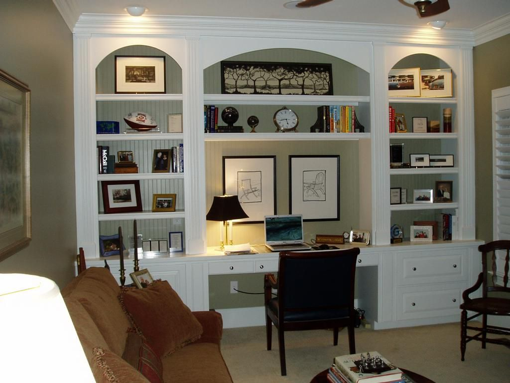 Beautiful Home Office Built Ins   Basement Bedroom