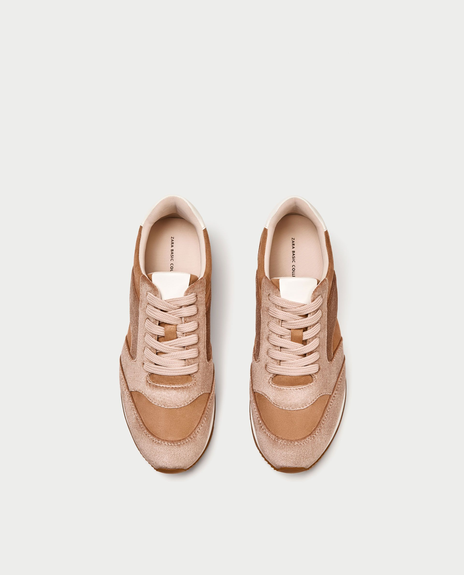 Velvet sneakers, Zara sneakers