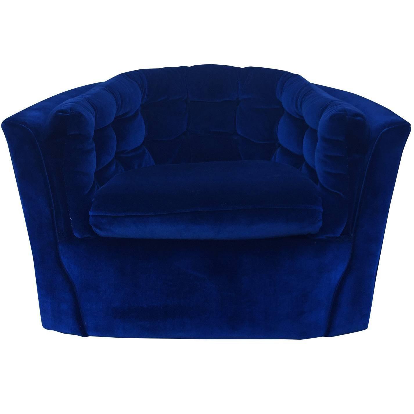 Best Royal Blue Velvet Mid Century Modern Swivel Chair Mid 400 x 300