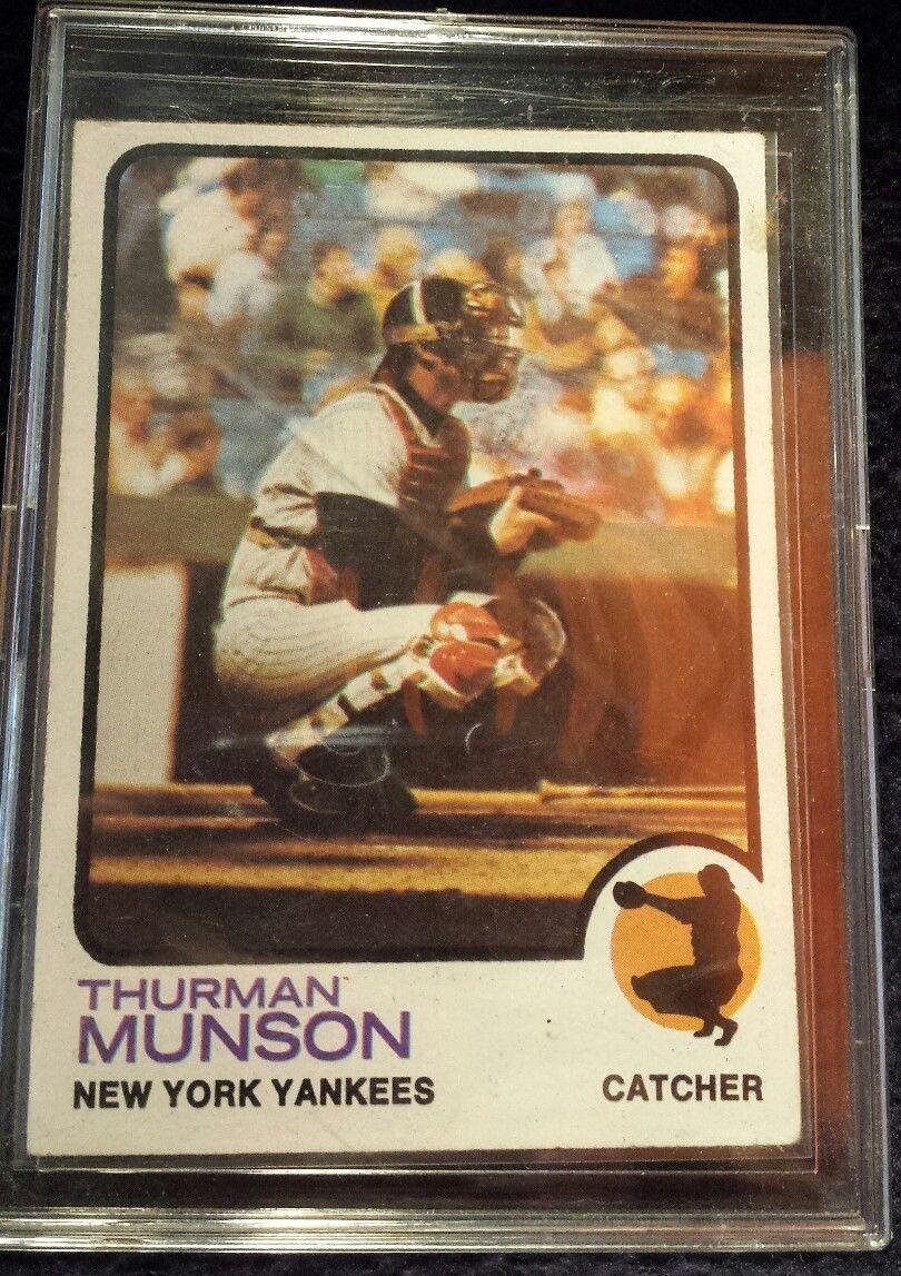 SOLD!! 1973 Topps Thurman Lee Munson New York Yankees