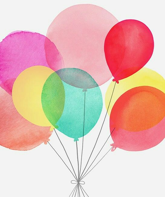 Pin By Jazmin Diaz On خلفيات Birthday Illustration Balloon Illustration Balloons