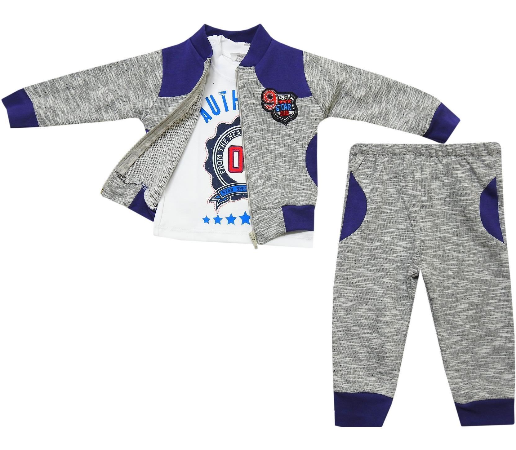 53 Wholesale t shirt jacket and trouser suit set for boy 1 2 age