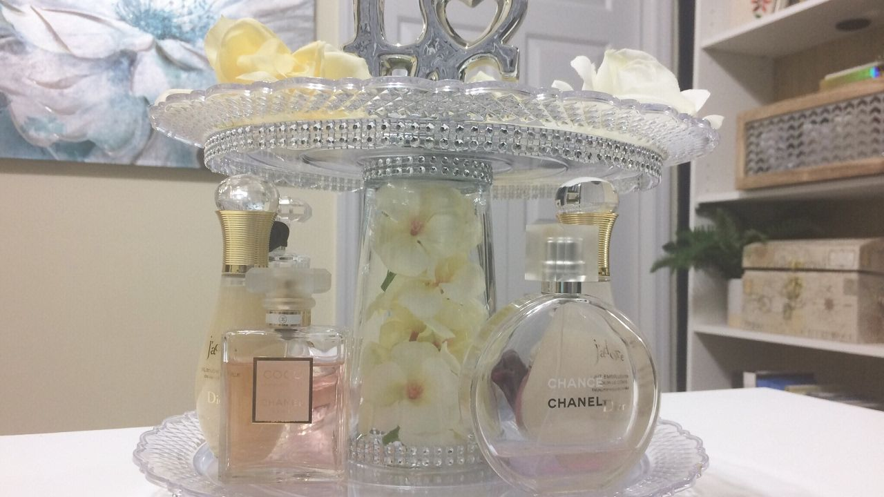 Glam Perfume Organization DIYDollar Tree YouTube Diy