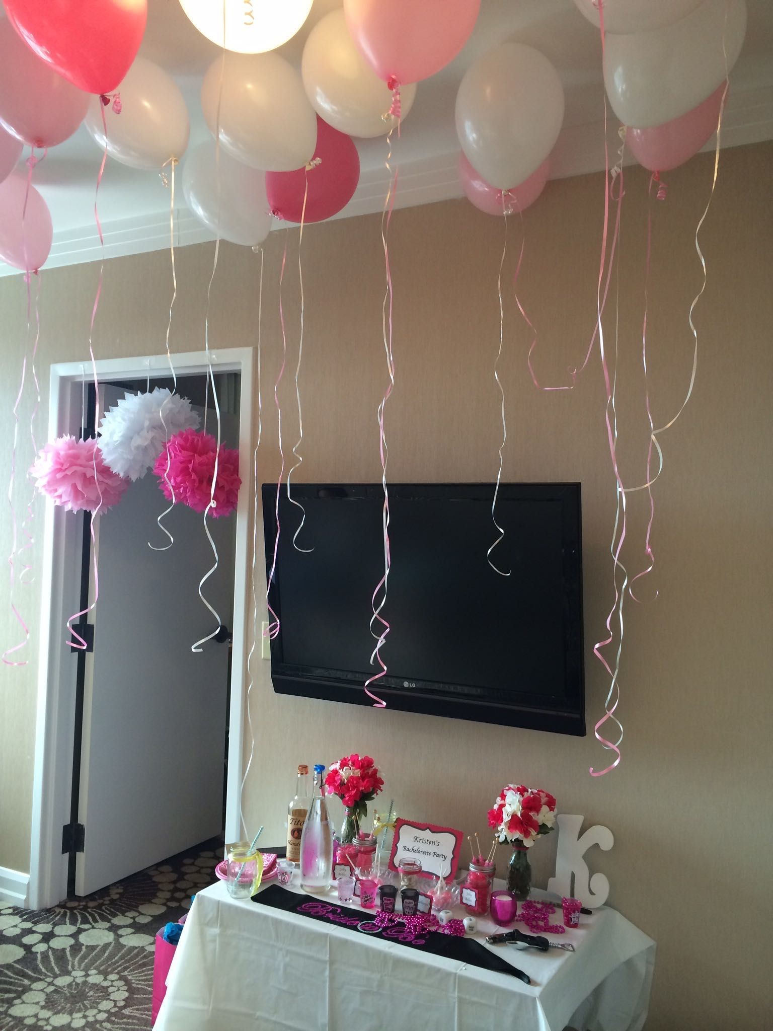 bachelorette decorations. hutton hotel in nashville, tennessee