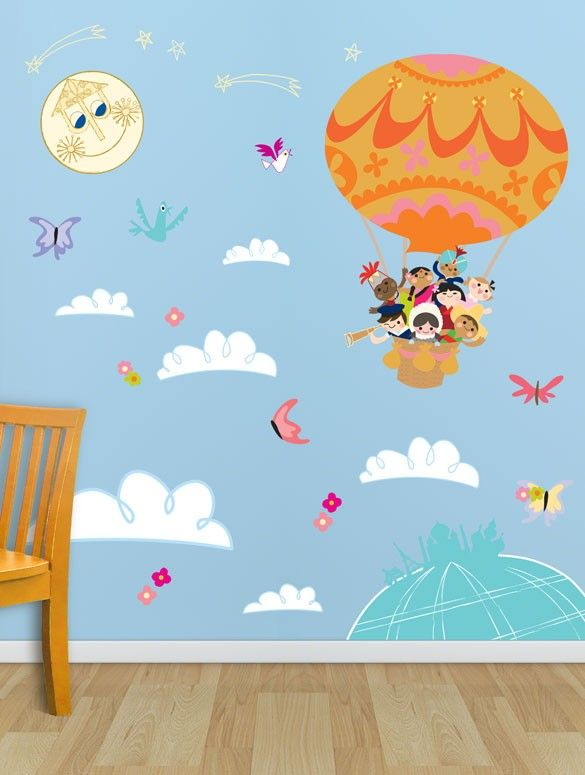 Mary Blair It S A Small World Balloon Explorers Disney Peel Place Wall Decals Oopsy Daisy Baby Wall Art Wall Art Decor Small World
