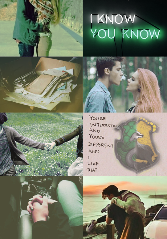 Slytherin x Hufflepuff couple aesthetic | Things I love
