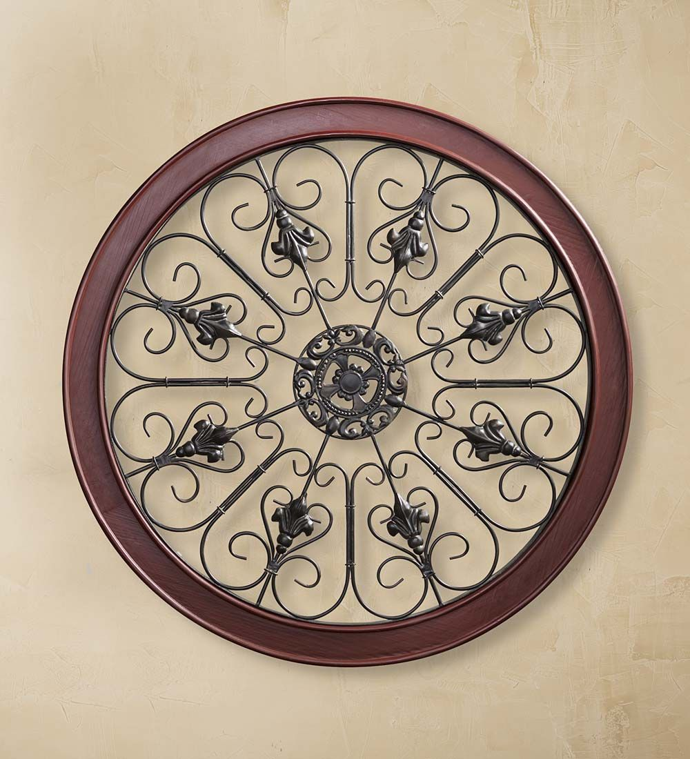 Medallion Wall Art Is A Combination Of Metal And Wood And Would