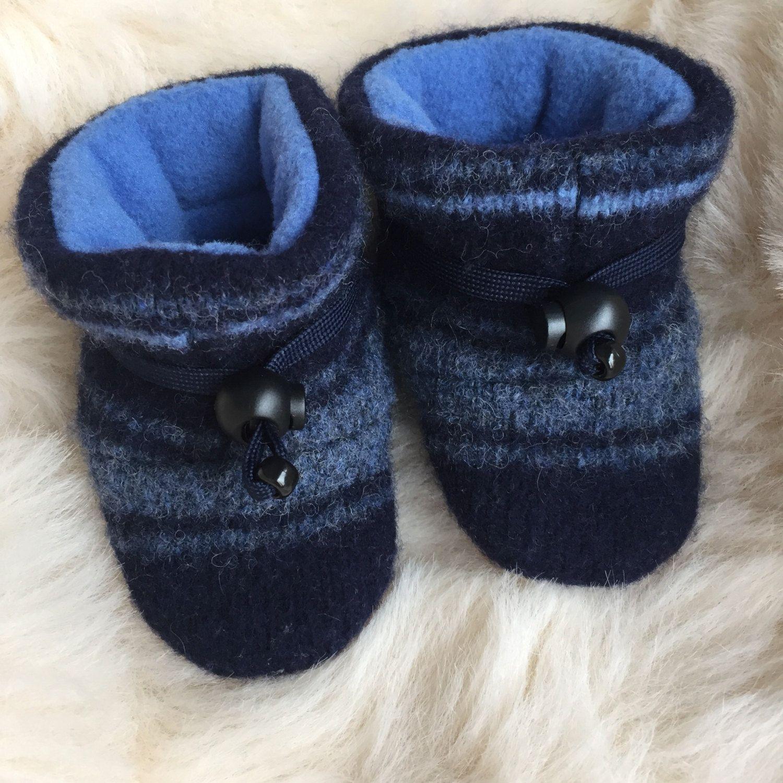 Wool baby slipper, non-slip soft sole shoe, baby boy or ...