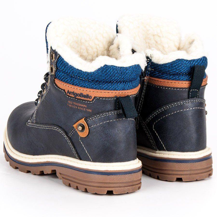 Polbuty I Trzewiki Dzieciece Dla Dzieci Arrigobello Arrigo Bello Niebieskie Chlopiece Ocieplane Traperki Winter Boot Shoes Boots