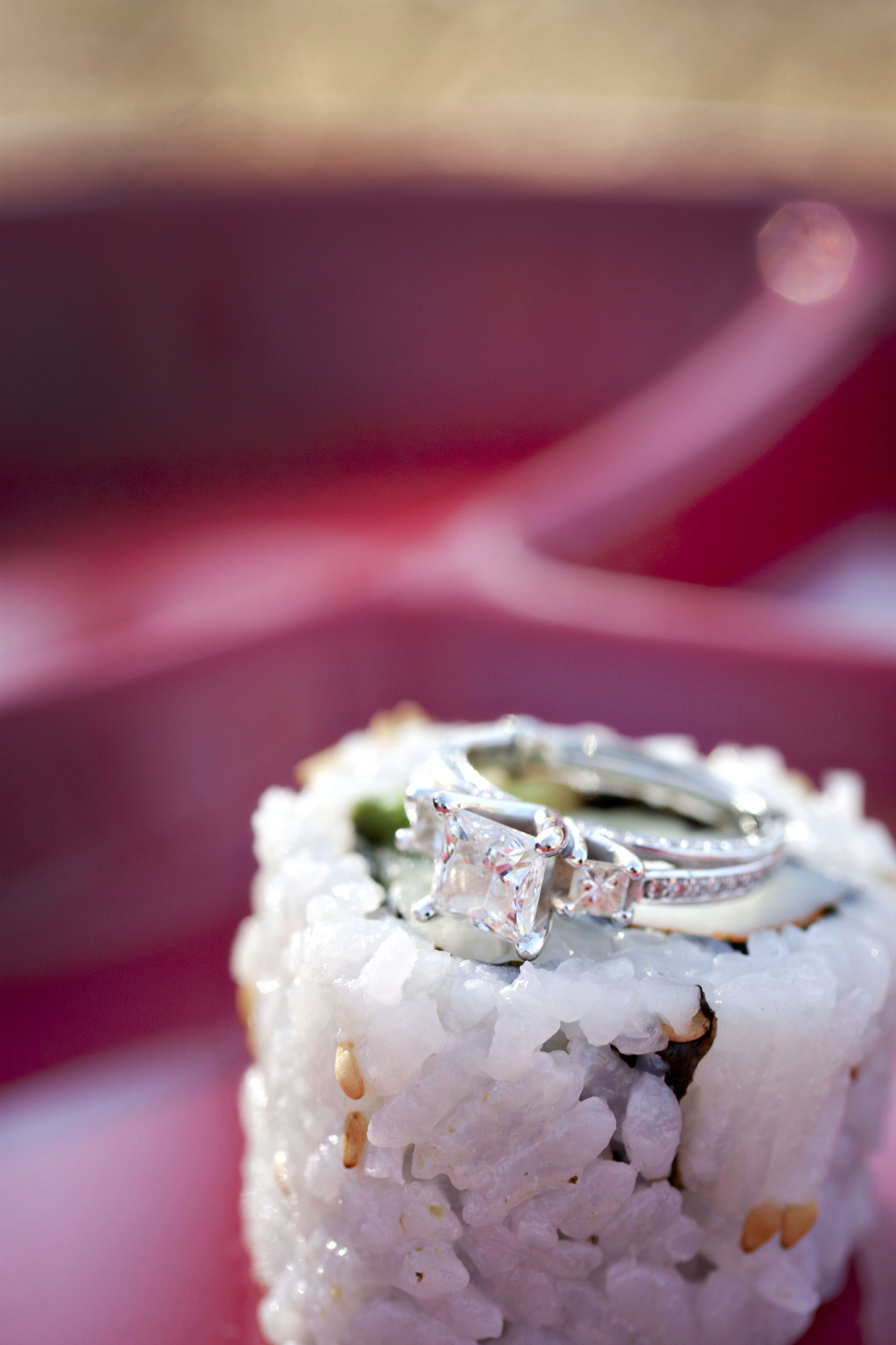 Diamonds And Sushi Are A Girl S Best Friends Minnesota Weddings Minneapolisweddingphotographry With Images Food Crafts Wedding Charm My Sushi
