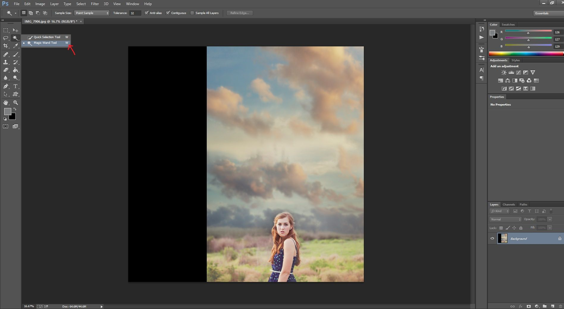 Adding a Colorful Block of Negative Space to your Image