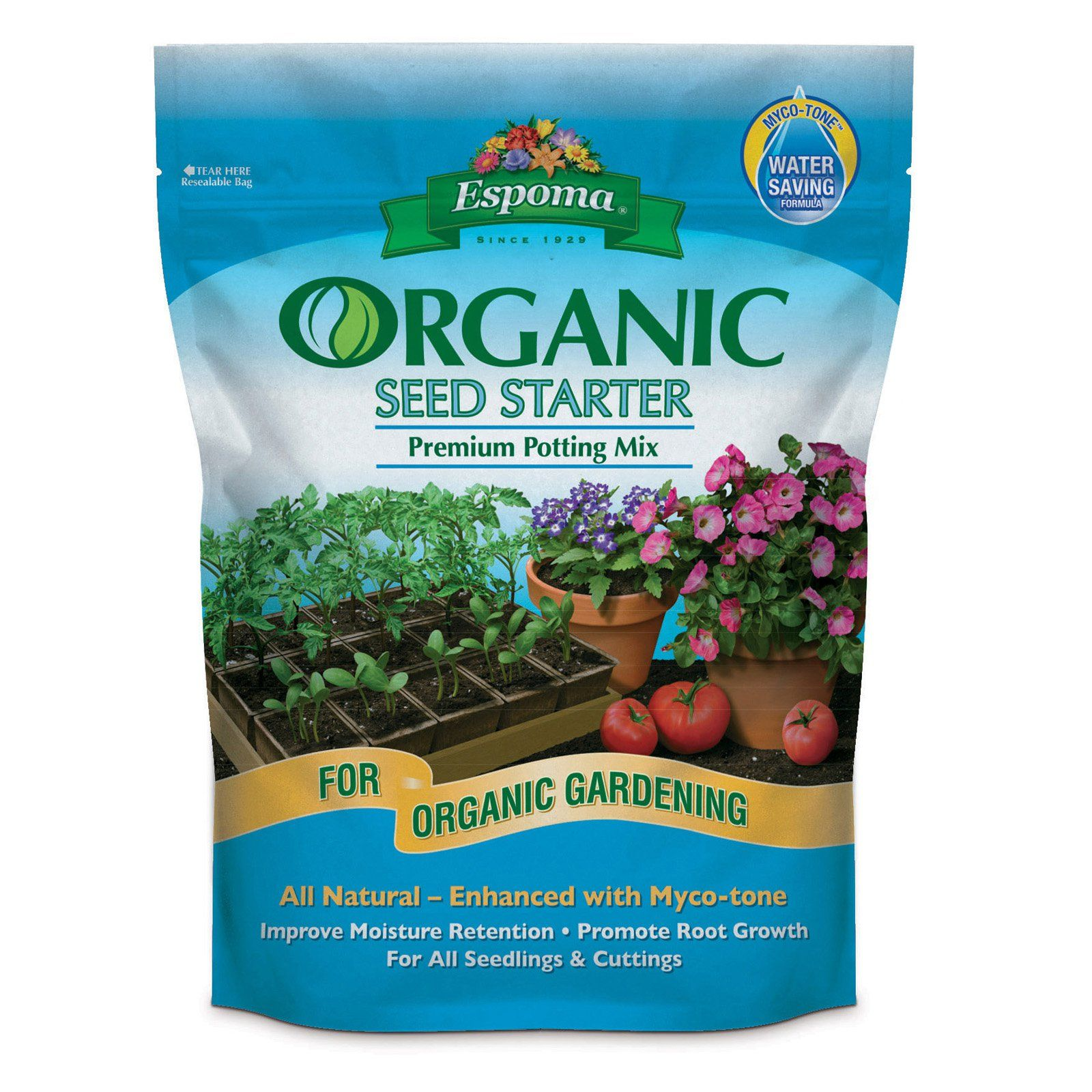 Espoma 16 Qt Organic Seed Starter Premium Potting Mix 640 x 480