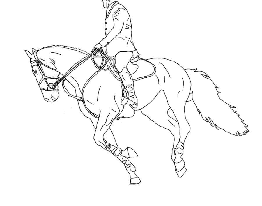 Free Line Art Under Saddle