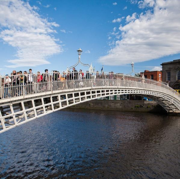 Check out the Ha'penny Bridge in Dublin on our Britain and Ireland Explorer trip: https://goo.gl/N3JB7G