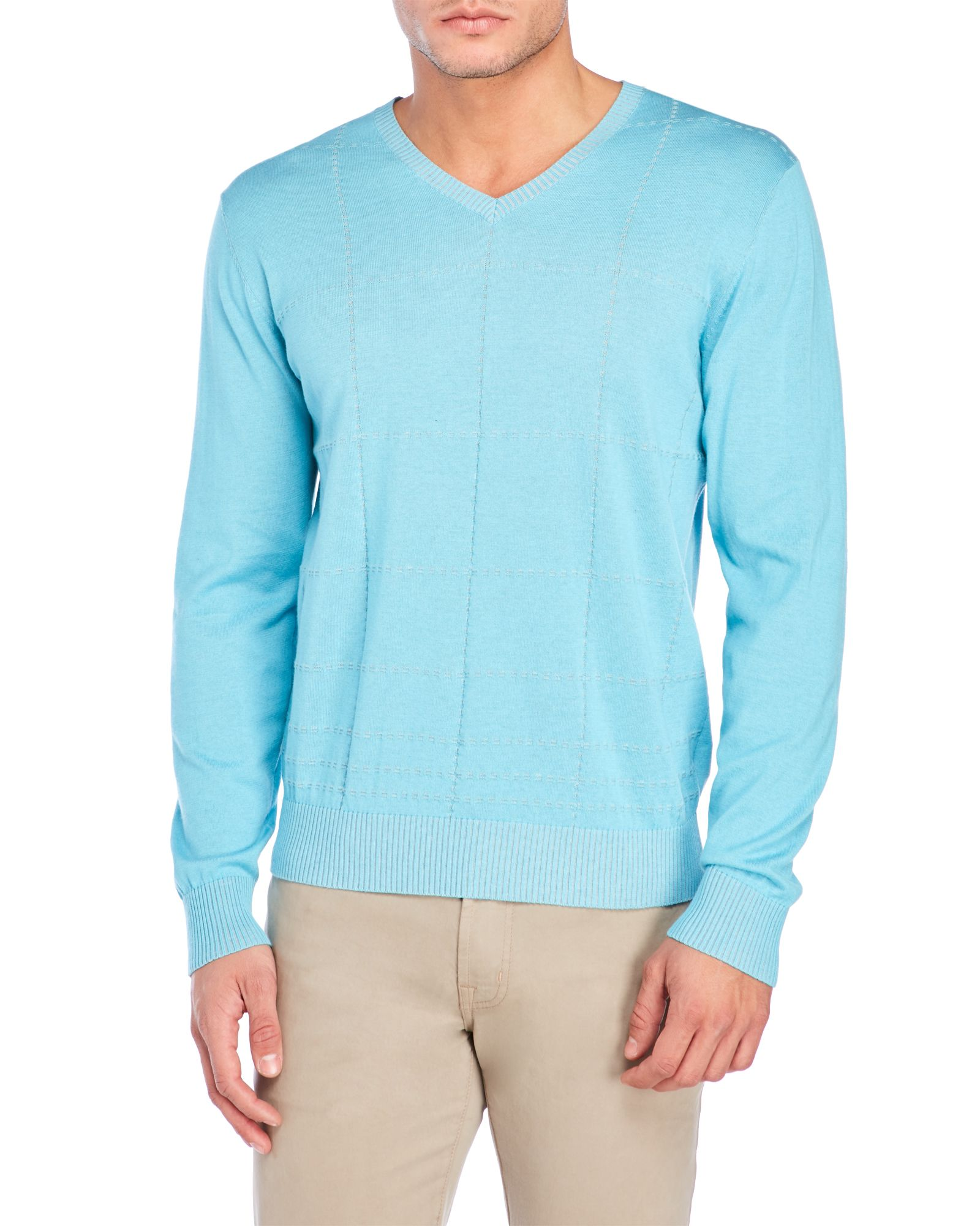 Raffi grid front vneck sweater apparel u accessories pinterest