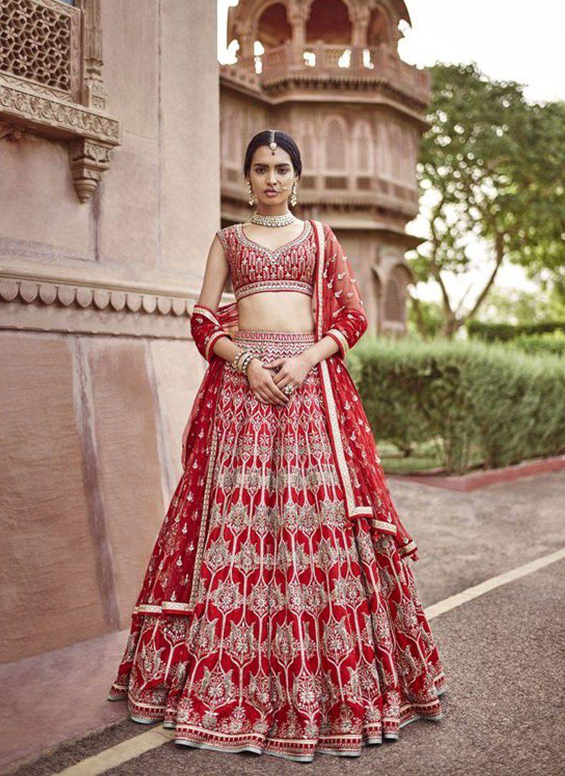 a65dad2c730b Exclusive Heavy Designer Beautiful Bridal Red Color Bridal Lehenga Choli- STYLIZONE – Stylizone #traditionaltattoo #fashionillustration  #fashiondesign ...