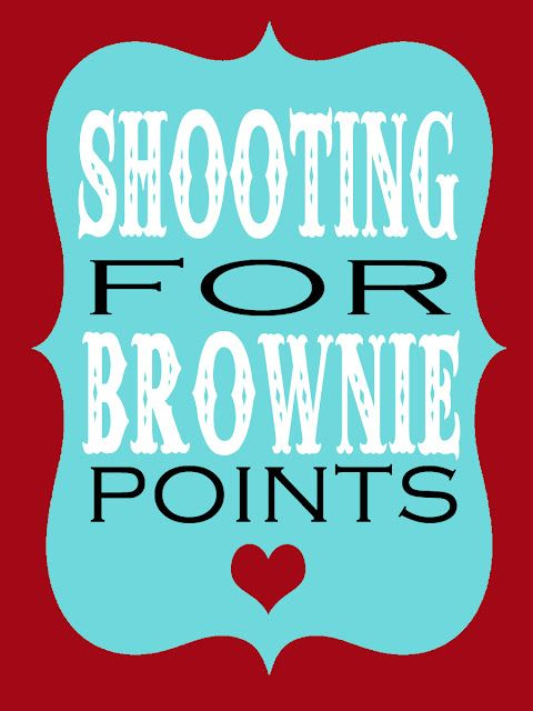image regarding Shooting for Brownie Points Free Printable titled Capturing for brownie info reward tag for instructors presents
