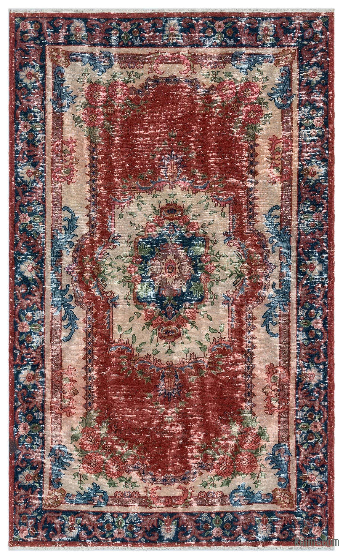 Turkish Vintage Area Rug 3 9 X 6 2