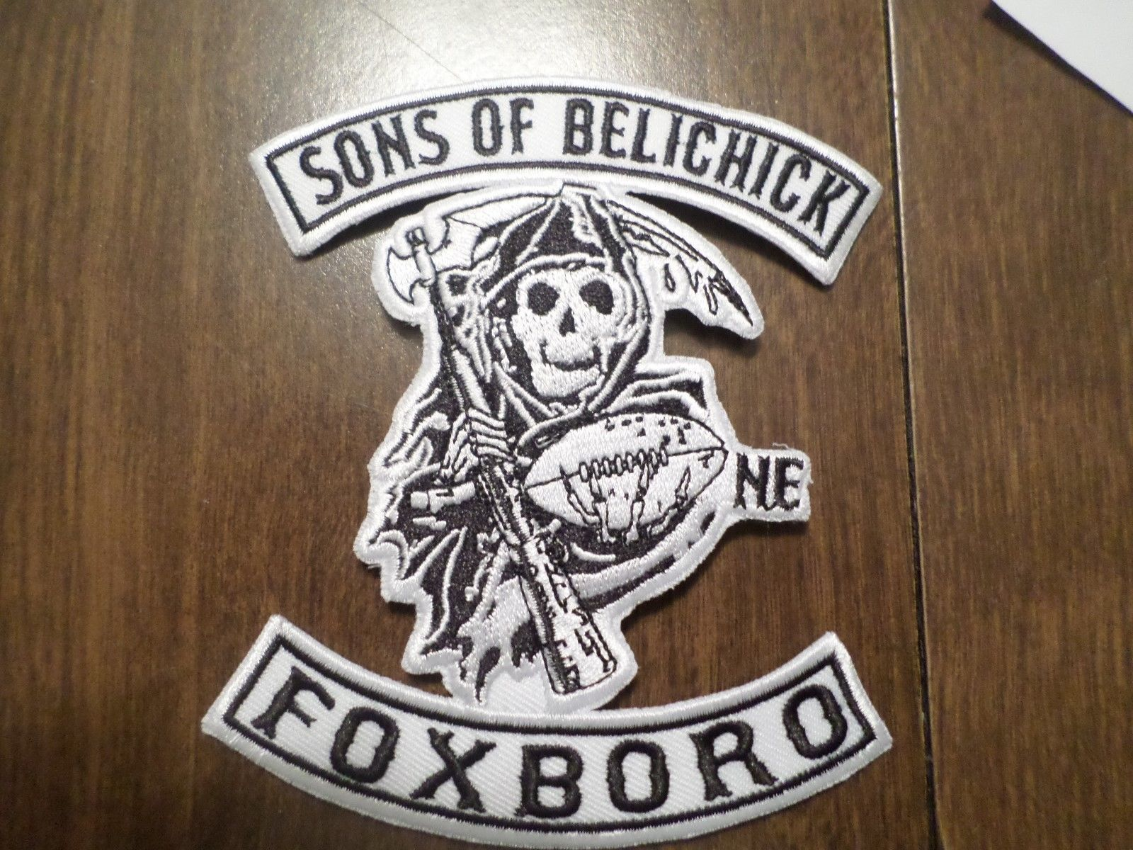Awesome NFL New England Patriots Sons of Belichick Iron on Patch ...