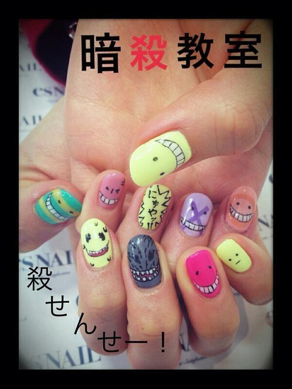 暗殺教室(Assassination Classroom) 殺せんせー : Character nail art ...