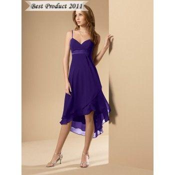 Purple Tea Length Flower Girl Dresses