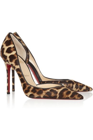 online store 90399 00f6a Christian Louboutin Iriza Leopard. I would love these in my ...
