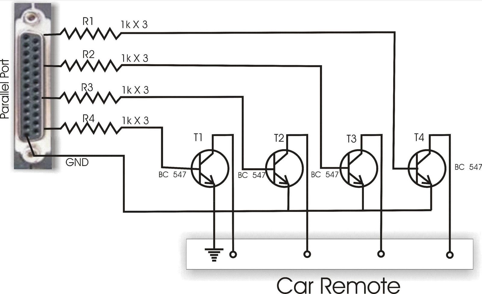Computer Control RC Car circuit diagram | Electronic