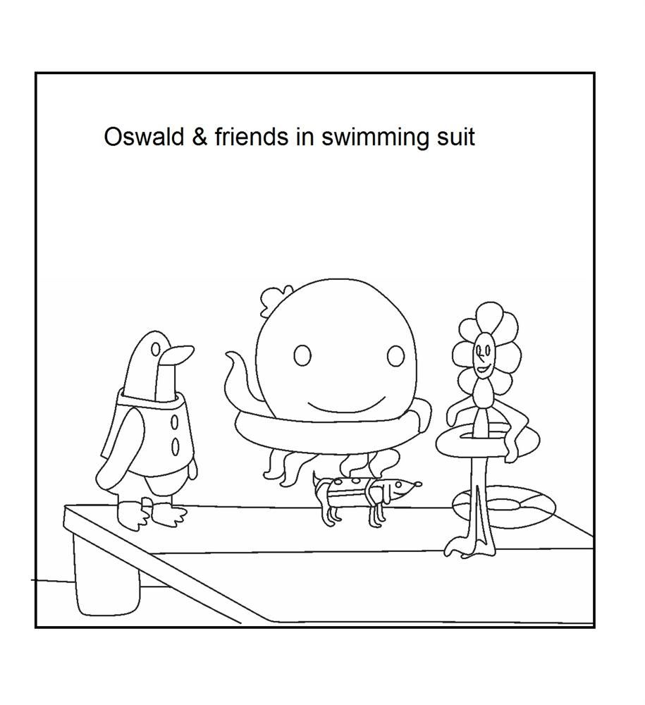 Oswald The Octopus Coloring Page Oswald The Octopus Octopus
