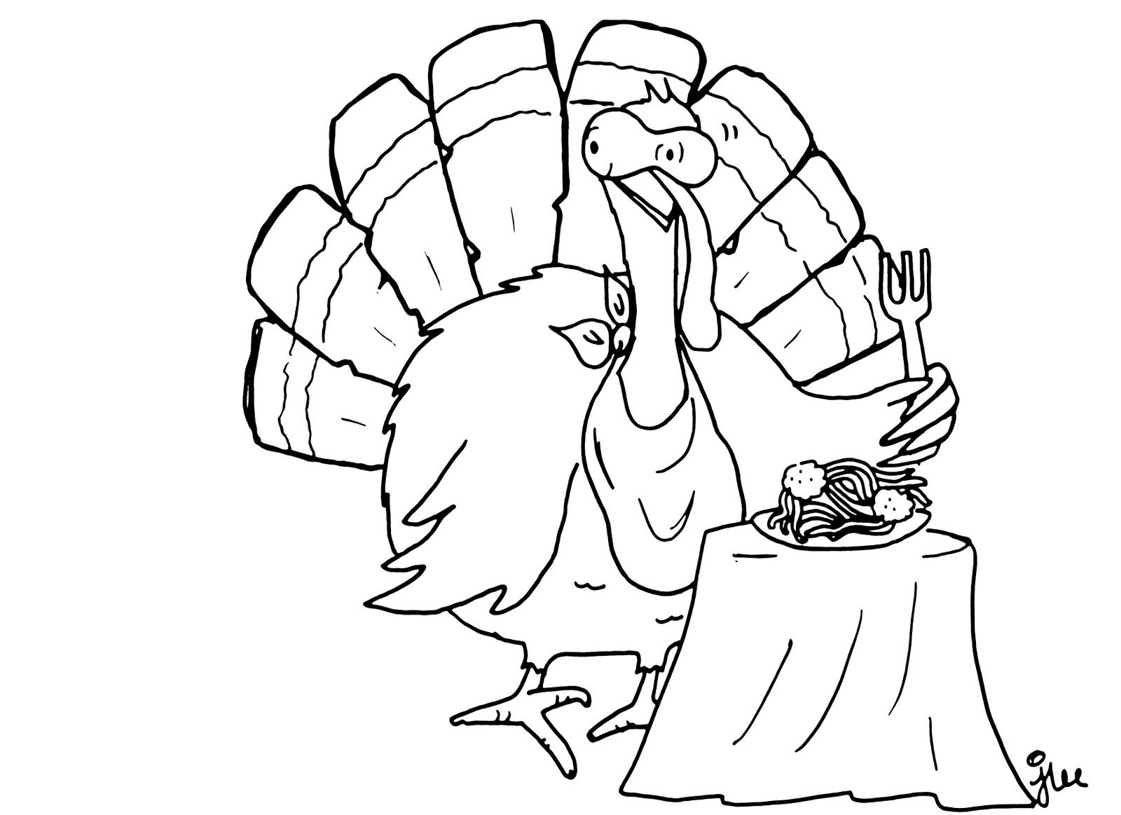 One Life as Housewife: Albuquerque Turkey Song and Coloring Page by ...