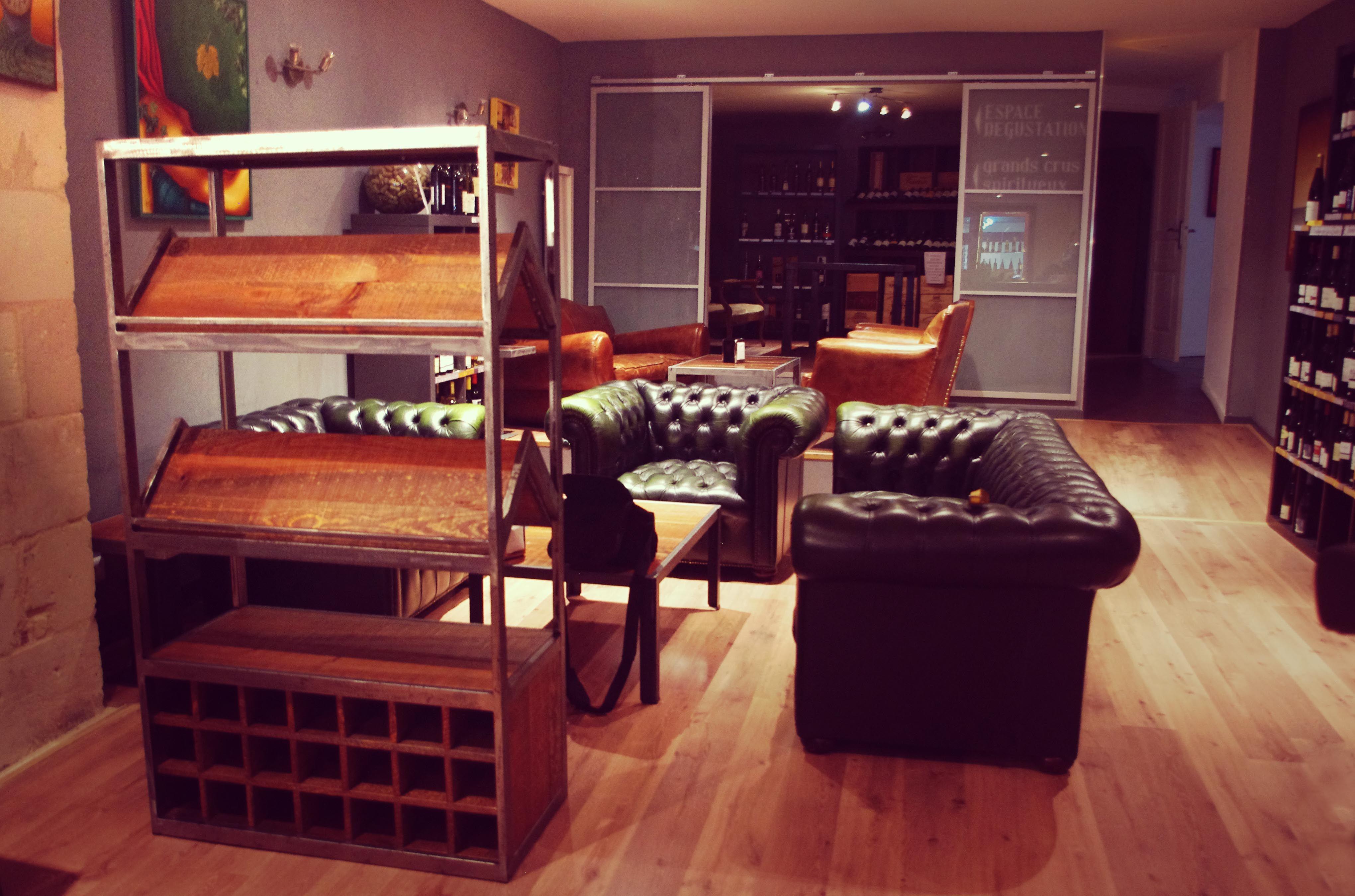 Meuble Sur Mesure Bordeaux meuble à vin sur-mesure style industriel #bois #acier #bar