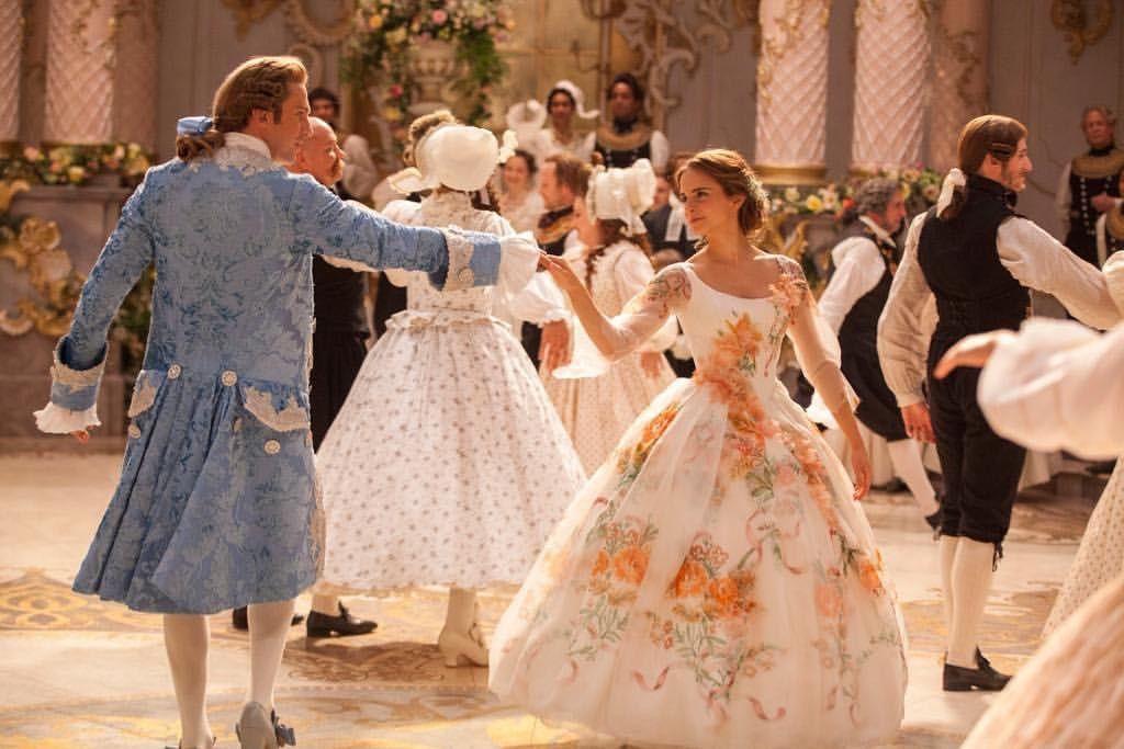 belle wedding dress live action