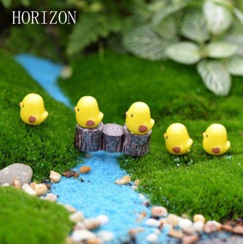 10PCS Random Miniature Dollhouse Bird//Hen//Duck Egg Bonsai Fairy Garden Decor