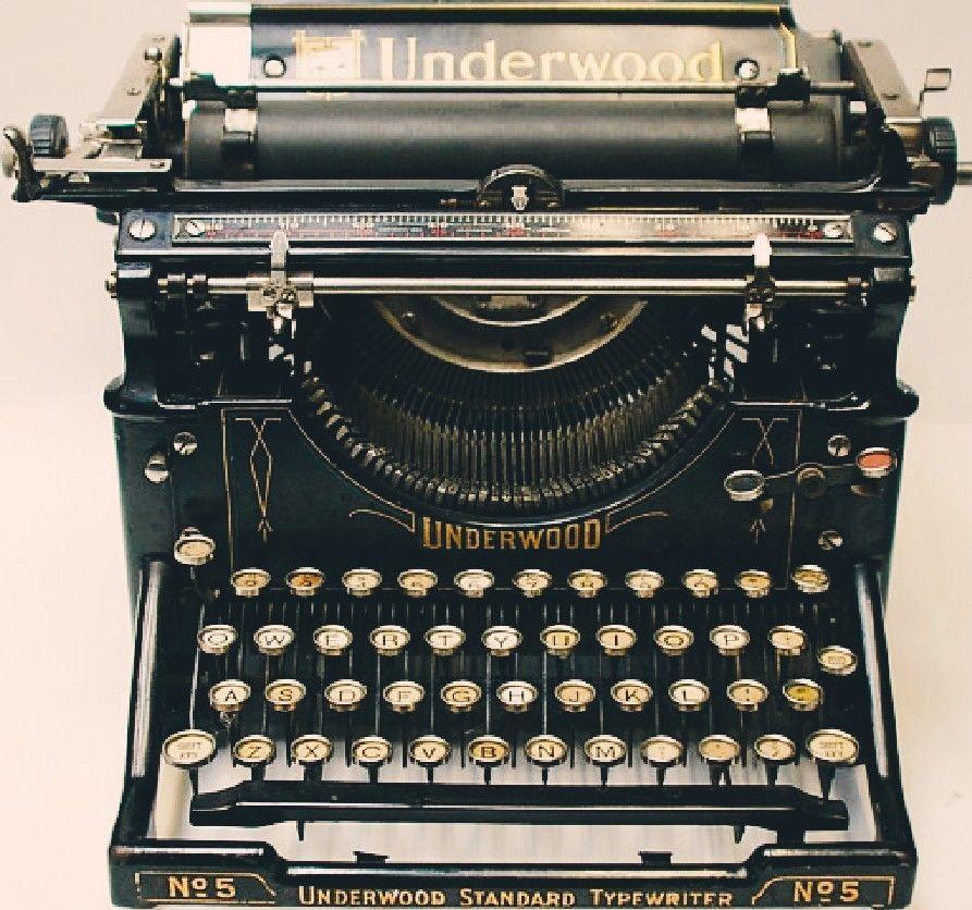 uk availability 69038 cc21e Vintage Antique 1921 UNDERWOOD No.5 Black Steel Standard Typewriter Real  Beauty  Underwood