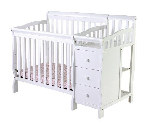 Attractive Dream On Me Jayden 4 In 1 Convertible Mini/Portable Crib With Changer, White