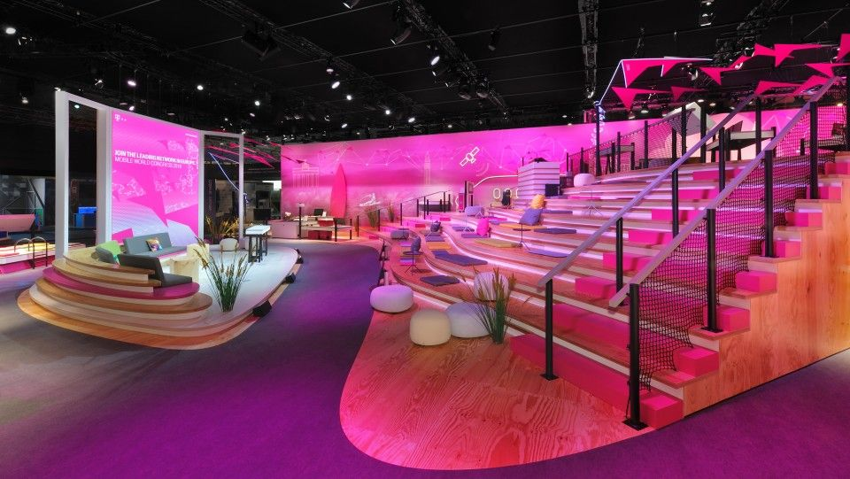 Mutabor Telekom MWC 2016 Booths and stands Stage