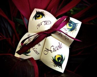 Folded Color Printed Cootie Catcher Wedding by AlchemyHourDesigns