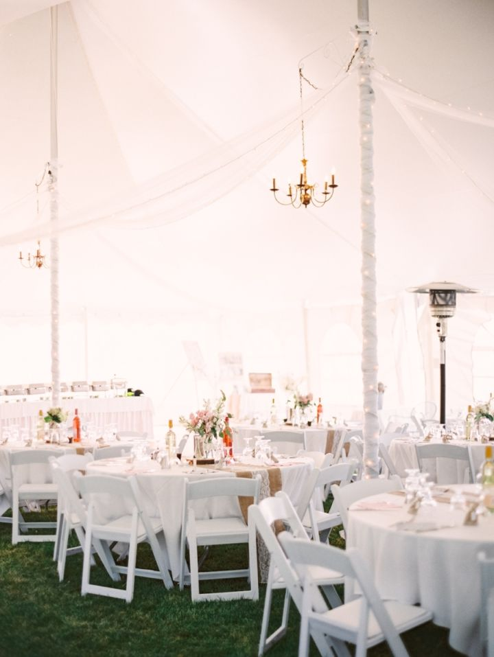Blush toned for rustic country meets elegance farm wedding | Wedding reception under tent | wedding decorations #farmwedding #rusticweddingdecoration