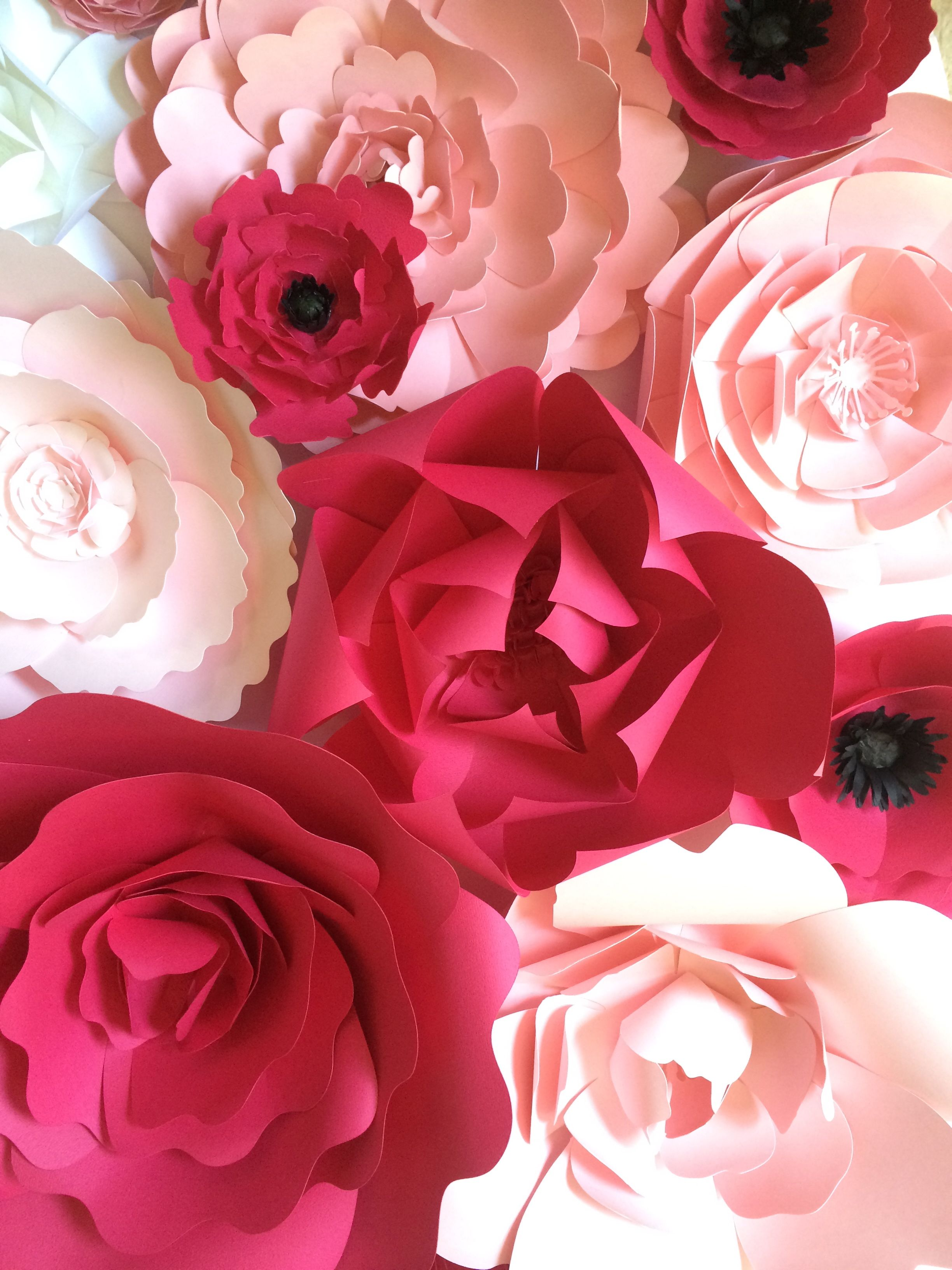 Pink paper flower wall by PaperFlora  flowers  Pinterest  Pink