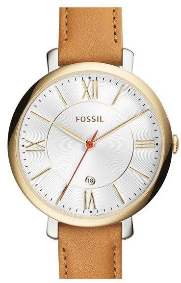 fossil uhr band cognac