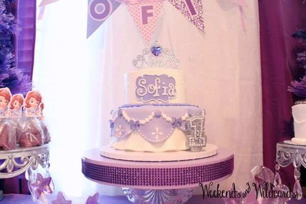 Sofia The First Birthday Party Cake Party Pinterest Birthdays