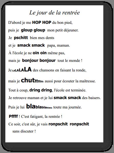 Berühmt une poésie de rentrée ! | Belles phrases | Pinterest | School  EY66