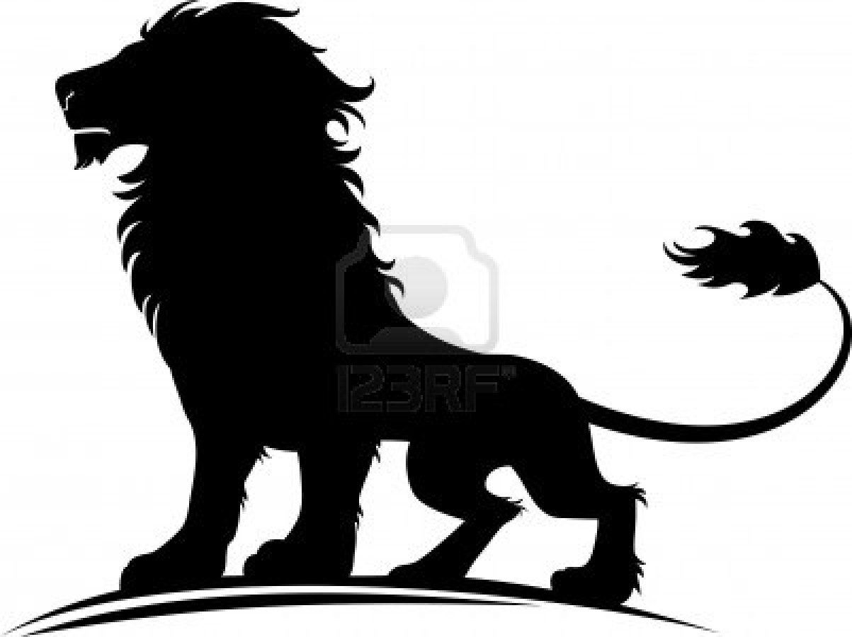 Vector Illustration Of A Silhouette Of A Proud Lion Stock Photo 9935368 Lion Silhouette Abstract Lion Mens Lion Tattoo