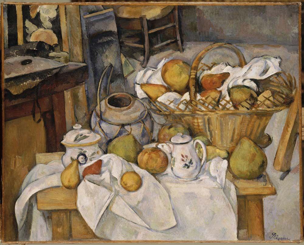 Il tavolo di cucina, 1888-90, olio su tela, Paul Cézanne. Musée d ...