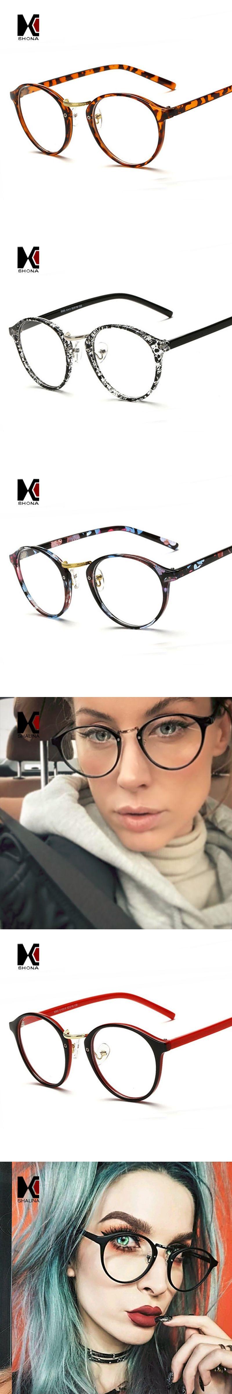 b07e9bc28f2 SHAUNA Fashion Round Eyeglasses Frames Brand Designer Men Black Circling  Optical Frame Glasses Women Eyewear Plain