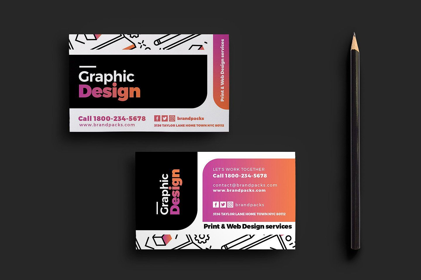 Creative Business Card Graphic Design Business Card Business Card Design Name Card Design