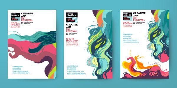 Creative Jam XVI Festival identity by António Silva, via Behance