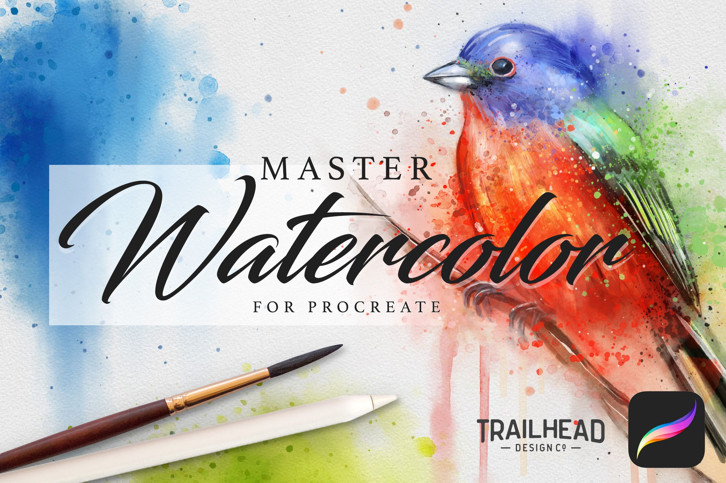 Photo of Master Watercolor Procreate Brushes – Design Cuts
