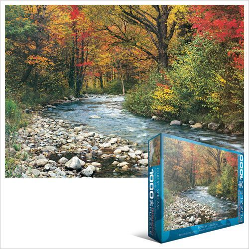 Forest Stream 1000 Piece Puzzle 19 25 X 26 5 Jigsaw Puzzles Jigsaw Puzzles 1000 Soothing Images