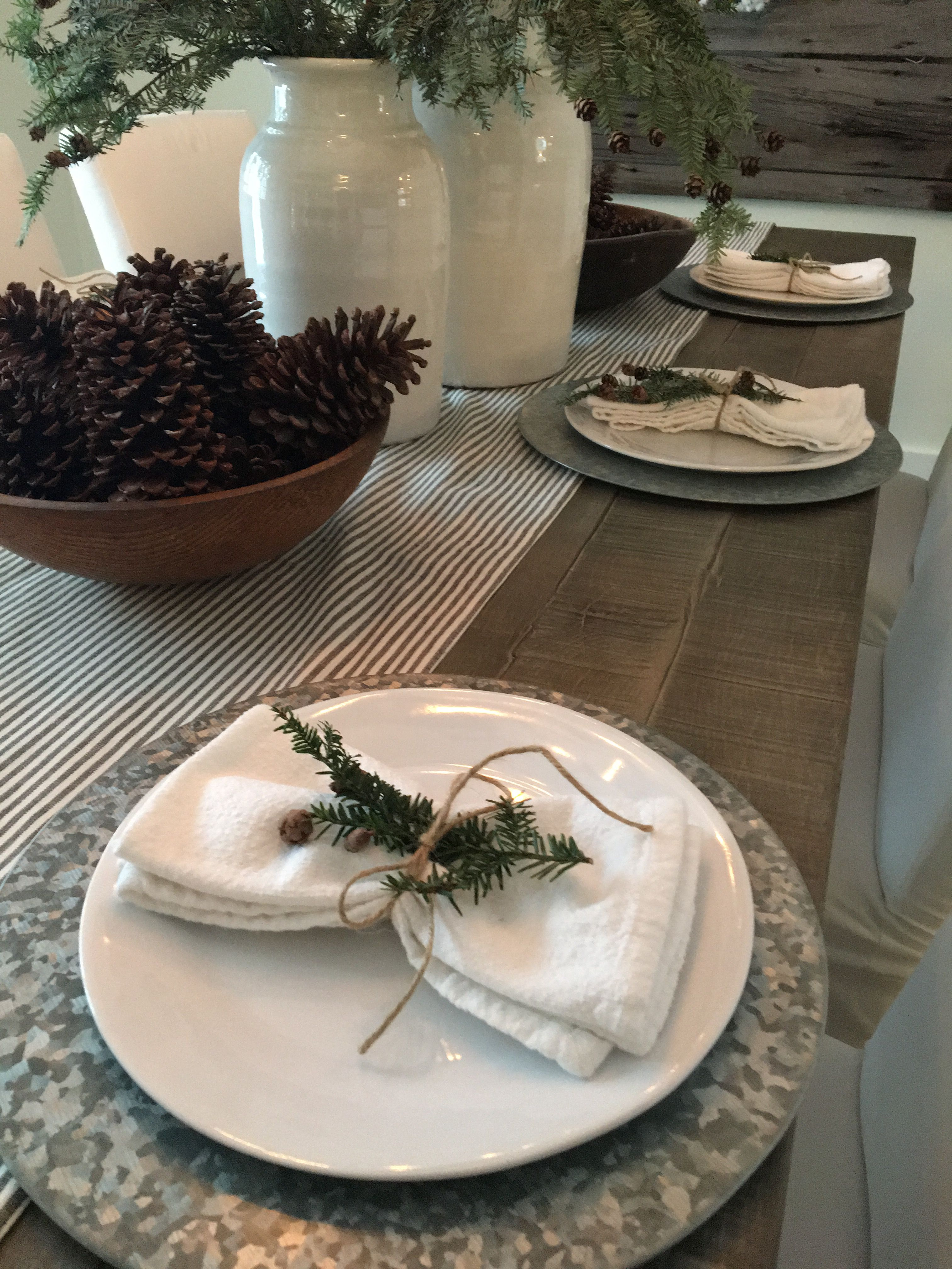 Simple Galvanized Plate Chargers Farmhouse Dining Plate Decor
